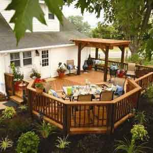 home with a deck